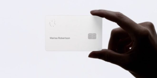 La jolie carte de crédit d'Apple — Apple Card