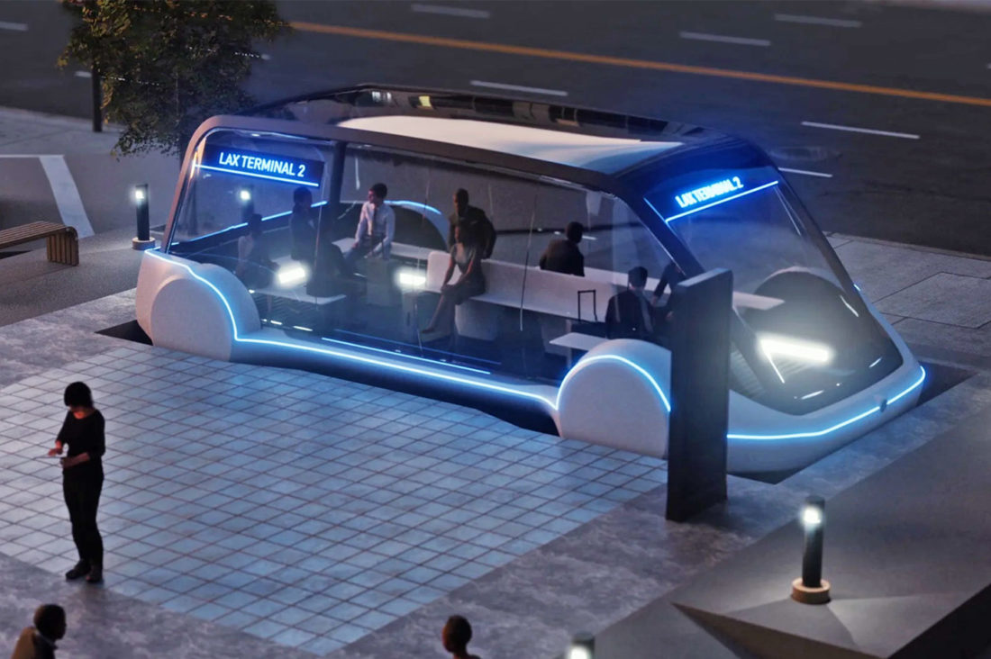 CES 2021 projet The Boring Company transport visiteurs
