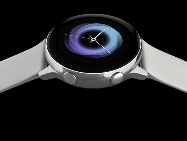 Image promotionnelle de la Samsung Galaxy Watch Active.