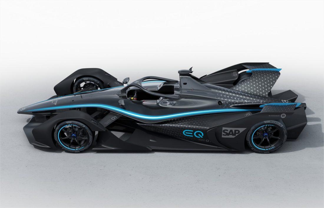 Mercedes-Benz voiture de course électrique