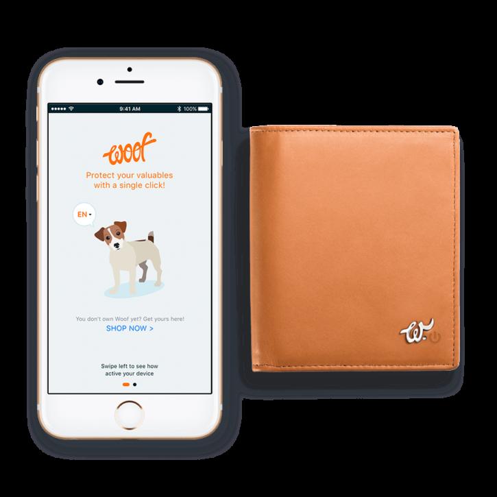 Application mobile pour le portefeuille connecté Woolet Woof Glow.