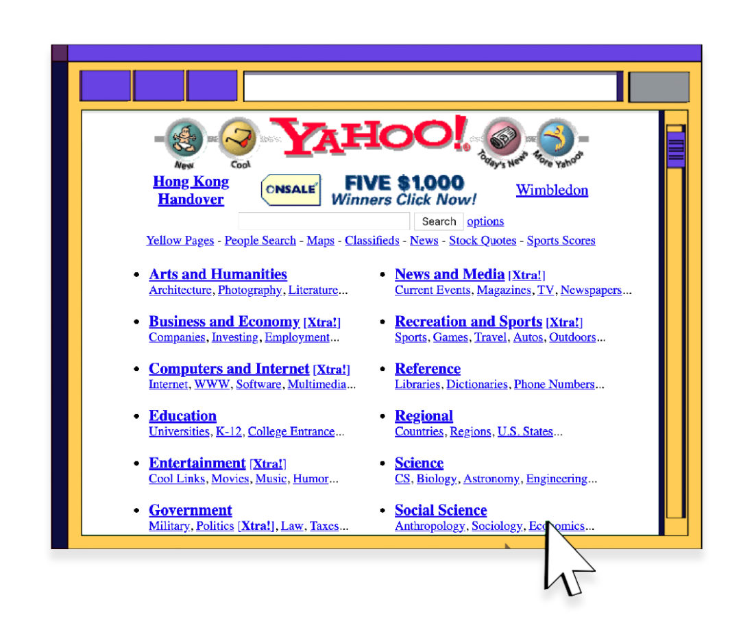 World Wide Web Yahoo!