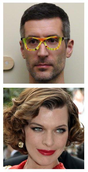 Une intelligence artificielle pense que les personnes qui portent ces lunettes sont Milla Jovovich