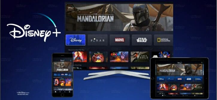 Interface du service Disney+