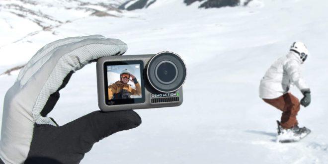 caméra d'action DJI Osmo action en montagne