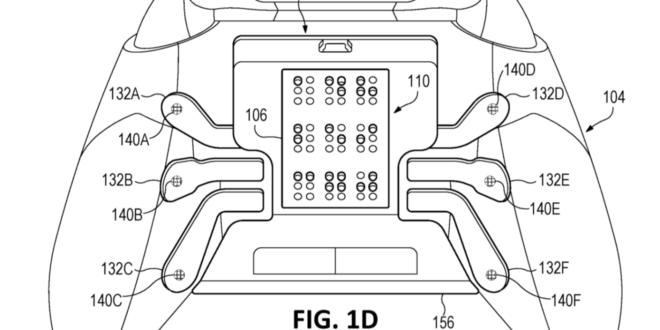 Microsoft xbox braille manette