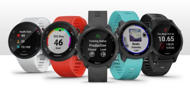 La gamme des montres connectées Garmin Forerunner 45