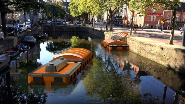 Roboat transport de déchets
