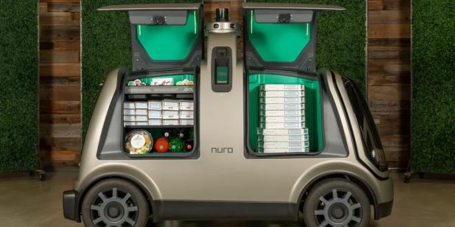 Domino's pizza utilisera des véhicule autonome R2 de Nuro pour ses livraisons