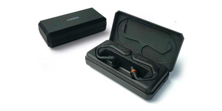 écouteurs modulaires Fostex TM2 dans leur boitier