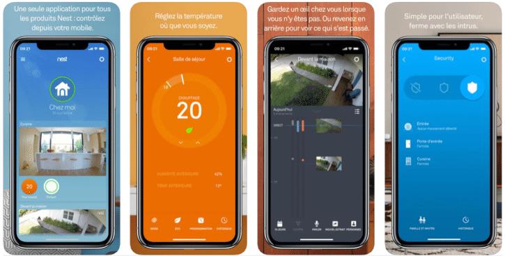 Capture écran itunes, app Nest pour Apple Watch
