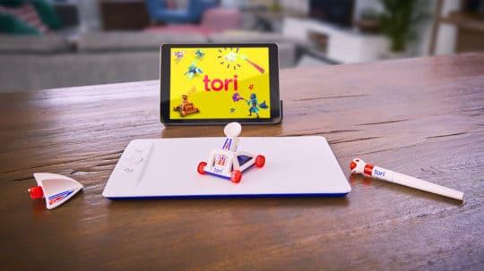 Tori, plateforme de jeu de Bandai Namco, les trois objets à utiliser comme manettes