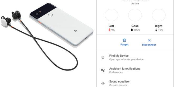google buds fast pair et infos