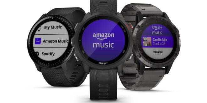 Amazon Music sur une montre connectée Garmin