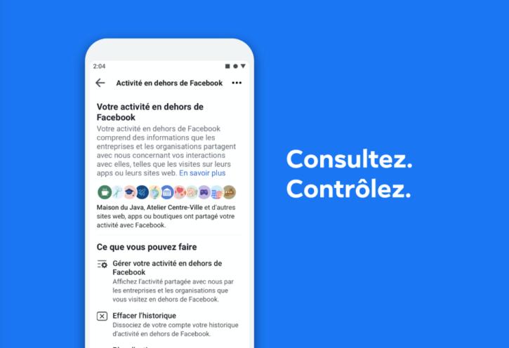 Facebook permet d'effecer l'historique des données des utilisateurs