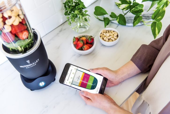 L'application du blender connecté nutribullet balance