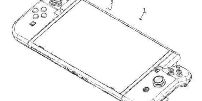 Joy-con pliable sur une nintendo switch en mode tablette