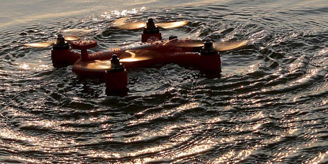 spry drone sur l'eau