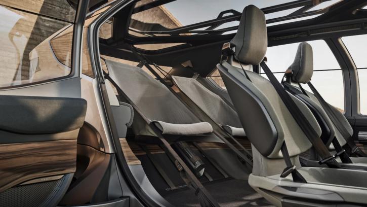 audi ai trail, concept car buggy électrique, siège arrière en hamac