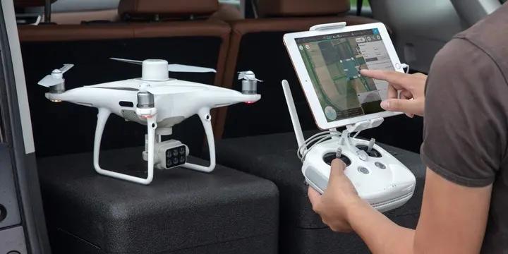 pilotage du drone DJI P4 Multispectral