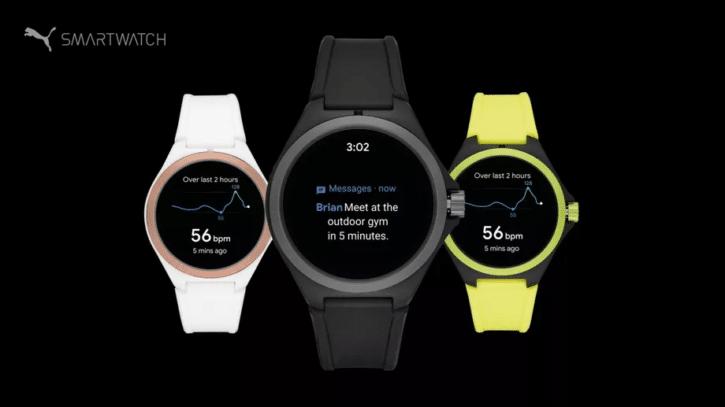 plusieurs variantes de la montre connectée de Puma