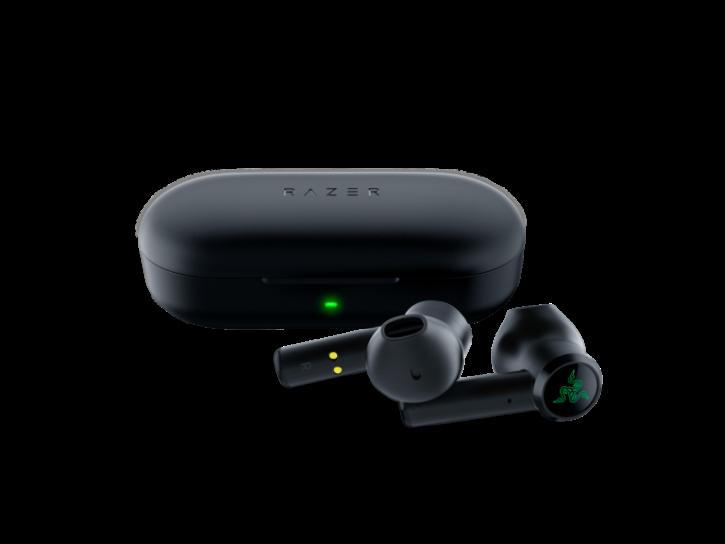 écouteurs sans fil razer Hammerhead true wireless posés