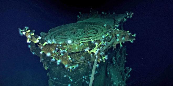 cette épaves a été retrouvée par des drones sous-marins