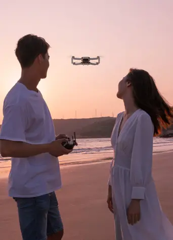 drone Mavic Mini de DJI en vol