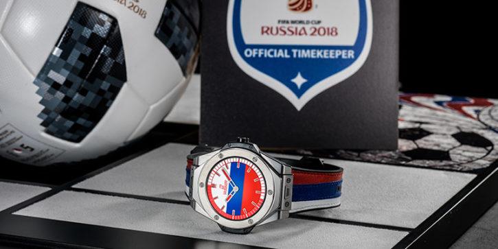 montre connectée Hublot pour mondiale, grande soeur de la montre connectée pour l'euro 2020