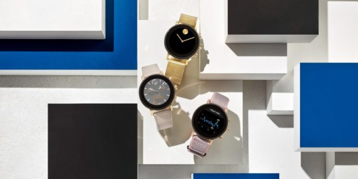 montres connectées movado connect 2.0 or et or rose