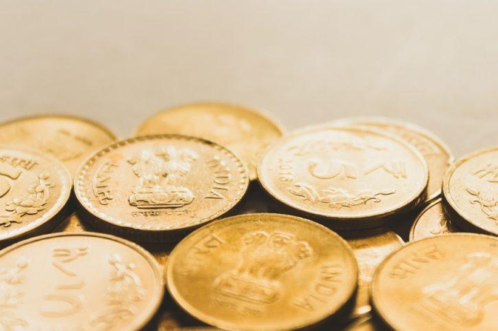 pièces dorées pour transition société cashless