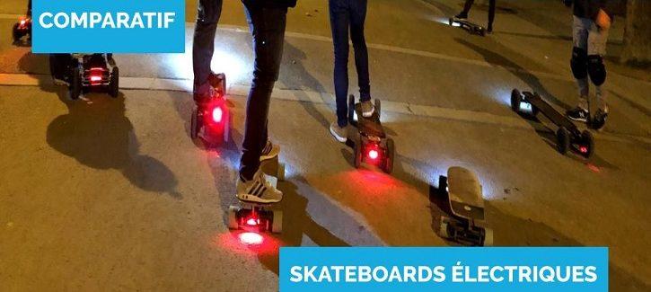 comparatif skateboards électriques une