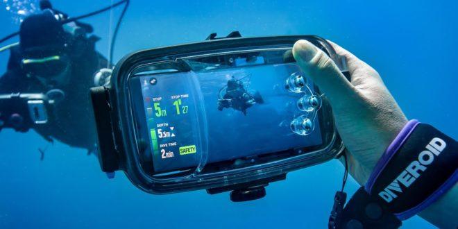 Diveroid, coque de plongée pour smartphone