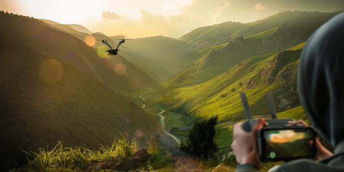 V-Copter Factor, le drone en plein vol