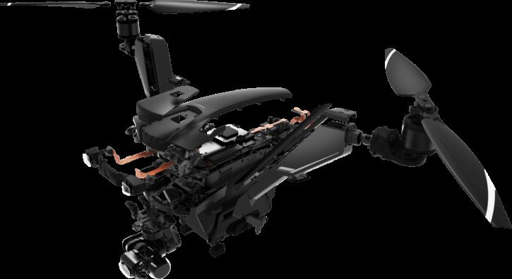V-Copter Factor, les composants internes du drone