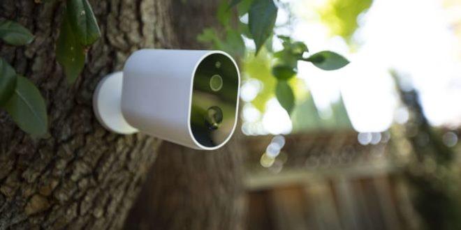 caméra connetcée xiaomi imilab ec2 installée à l'extérieur