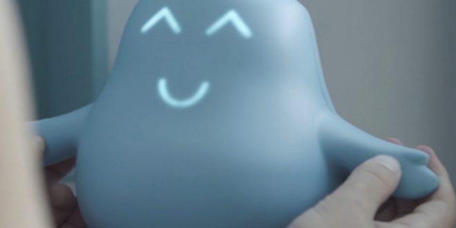 robot meyko content après la prise de médicament