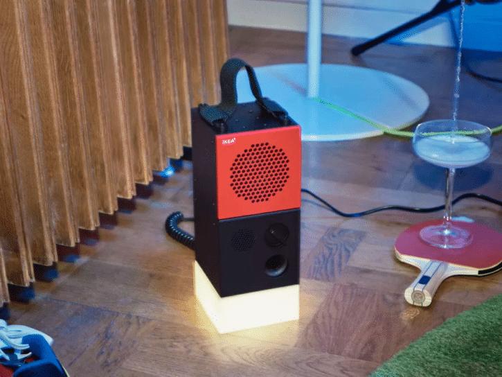 enceintes bluetooth ikeo Frekvens avec socle lumineux