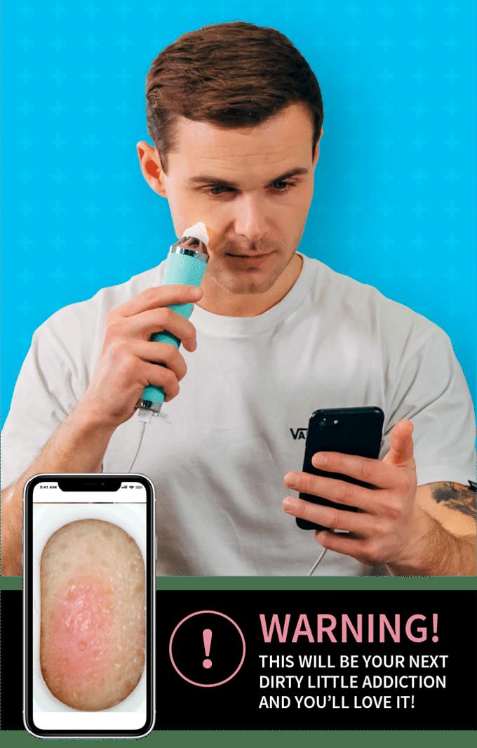 fonctionnement de l'aspirateur connecté porfee sur la peau