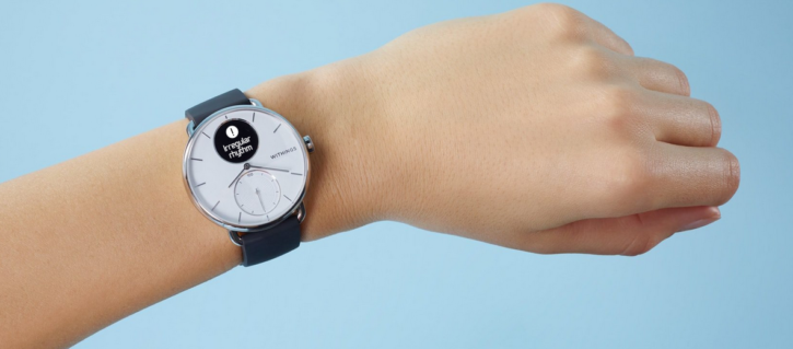 montre connectée withings scanwatch avec ECG
