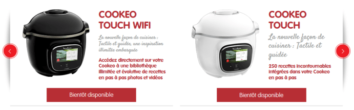 multicuiseurs moulinex cookeo touch wi-fi et touch