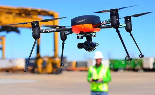 drones Draganfly pour surveiller fièvre et toux