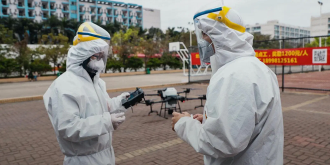 drones dji contre le coronavirus