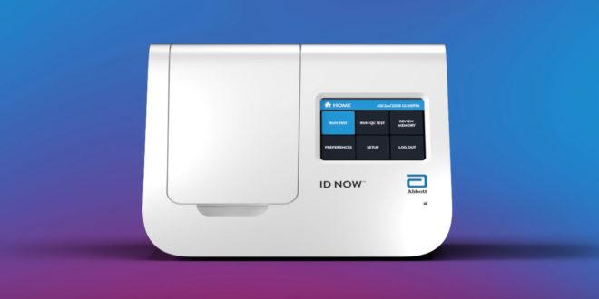 Dépister le Covid-19 en 5 minutes grâce à ID NOW, un mini-labo portatif