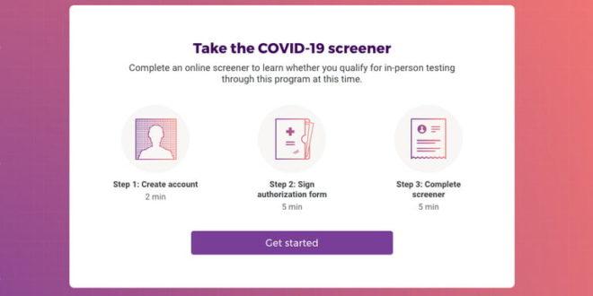 site web de google verily pour dépister le coronavirus