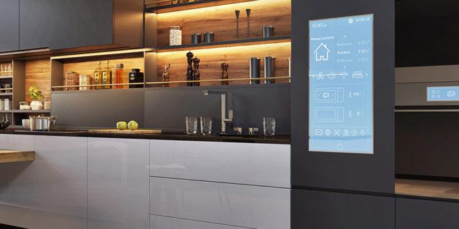 cuisine du futur entièrement connectée
