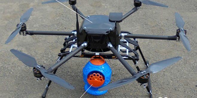drones à bulles pour pollinisation