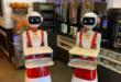 robots serveur pour distanctiation sociale dans restaurant