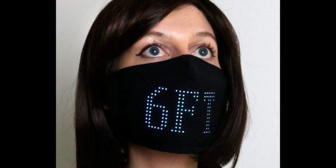 masque faciale à LED