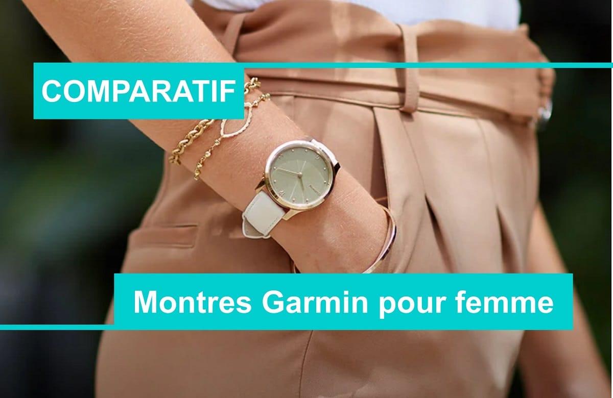 comparatif montre connectée garmin femme